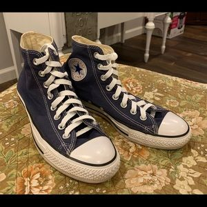 Converse All Star blue Chuck Taylors size 9